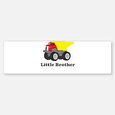 Little Brother Dump Truck Bumper Bumper Sticker