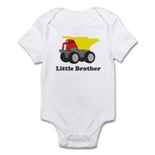 Little Brother Dump Truck Infant Bodysuit
