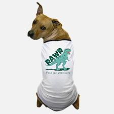 Personalized Green Dinosaur RAWR Dog T-Shirt
