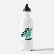 Personalized Green Dinosaur RAWR Sports Water Bottle