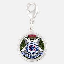 Victoria Police logo Silver Round Charm