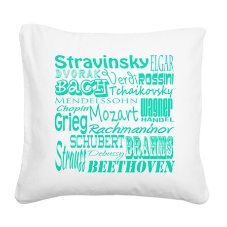 Classical Composers Square Canvas Pillow