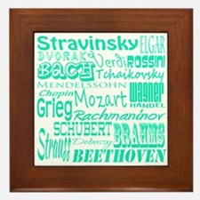 Classical Composers Framed Tile