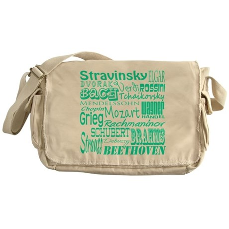 Classical Composers Messenger Bag