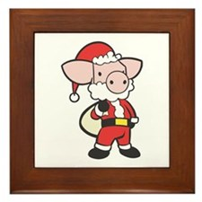 Santa Piggy Framed Tile
