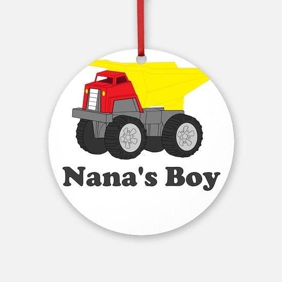 Nanas Boy Dump Truck Ornament (Round)