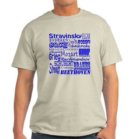 Classical Composers Light T-Shirt