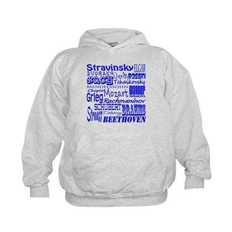 Classical Composers Kids Hoodie