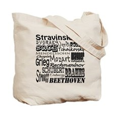 Classical Composers Tote Bag