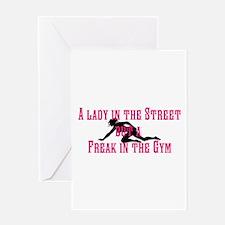 Lady Freak Greeting Card