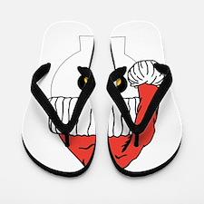 Santa Skull Christmas Flip Flops