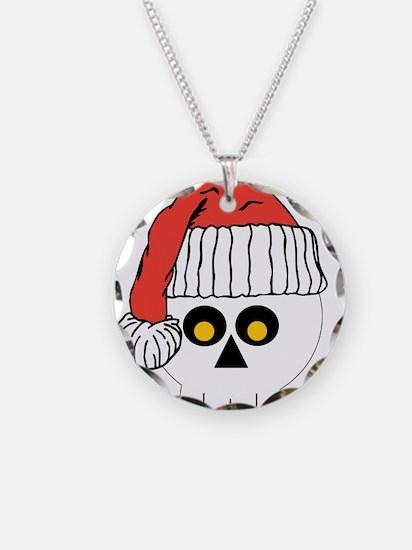 Santa Skull Christmas Necklace
