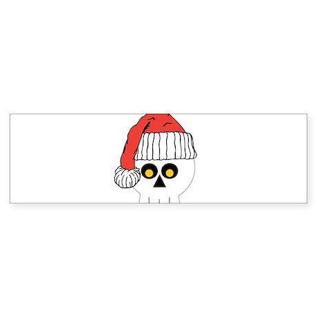 Santa Skull Christmas Sticker (Bumper)