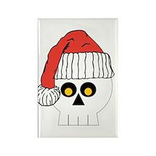 Santa Skull Christmas Rectangle Magnet