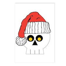 Santa Skull Christmas Postcards (Package of 8)