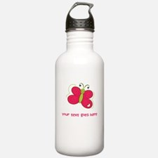 Personalized Cute Cartoon Butterfly Sports Water Bottle
