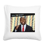 Tim Scott Square Canvas Pillow