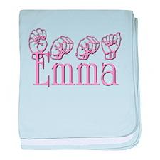 Emma in ASL baby blanket