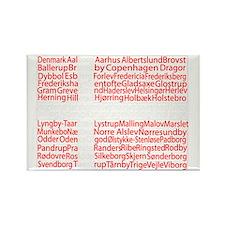 Danish Cities Flag Rectangle Magnet
