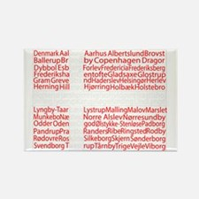 Danish Cities Flag Rectangle Magnet