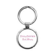 Child With Allergies Round Keychain