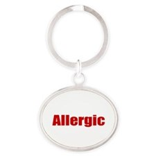 Allergic Oval Keychain