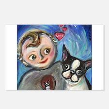 Boston Terrier baby love Postcards (Package of 8)