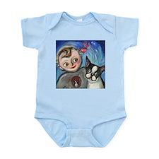 Boston Terrier baby love Infant Bodysuit