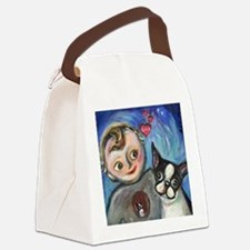 Boston Terrier baby love Canvas Lunch Bag