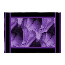 Modern Purple Floral by Mark Moore 5'x7'Area Rug
