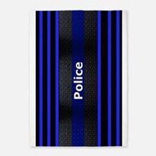 Police Thin Blue Line 5'X7'area Rug