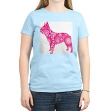 French Bulldog Women's Pink T-Shirt