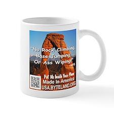 Delicate Arch No Rock Climbing Mug