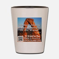 Delicate Arch No Rock Climbing Shot Glass