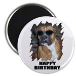 HAPPY BIRTHDAY BOXER LOOK Magnet