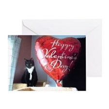 Valentine's Day Kitty Greeting Card