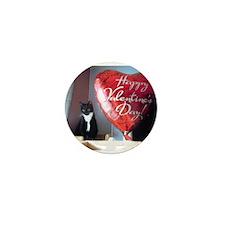 Valentine's Day Kitty Mini Button