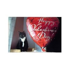 Valentine's Day Kitty Rectangle Magnet (100 pack)