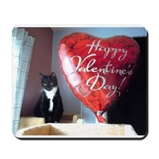 Valentine's Day Kitty Mousepad