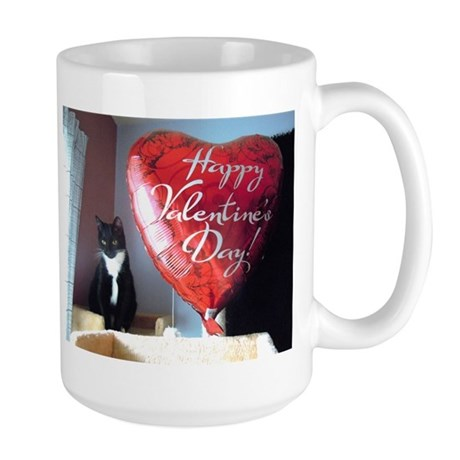 Valentine's Day Kitty Large Mug