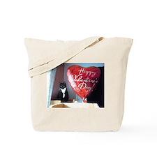 Valentine's Day Kitty Tote Bag
