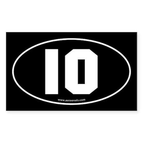 #10 Euro Bumper Oval Sticker -Black Sticker