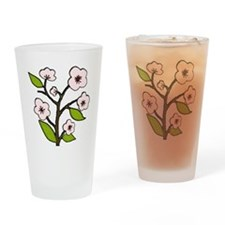 pink cherry blossoms Drinking Glass