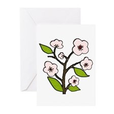 pink cherry blossoms Greeting Cards (Pk of 10)