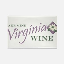 Virginia Wine Rectangle Magnet