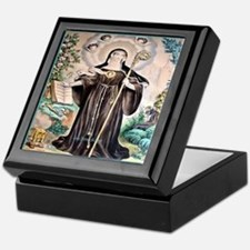 Saint Gertrude the Great Keepsake Box