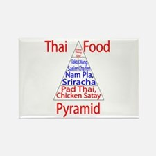 Thai Food Pyramid Rectangle Magnet (10 pack)