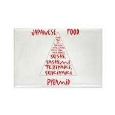 Japanese Food Pyramid Rectangle Magnet (10 pack)