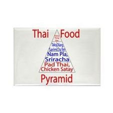 Thai Food Pyramid Rectangle Magnet