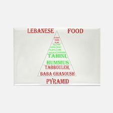 Lebanese Food Pyramid Rectangle Magnet